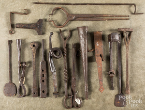 Group of wrought iron tools, 18th/19th c.