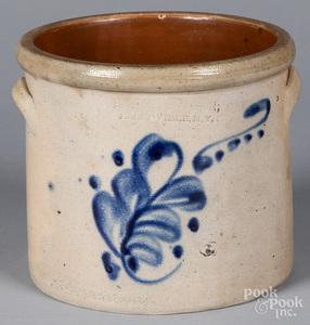 New York one-gallon stoneware crock, 19th c.