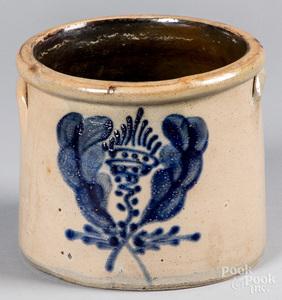 One-gallon stoneware crock, 19th c.