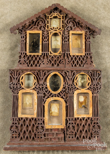 Fretwork frame, with early Columbia, PA photos