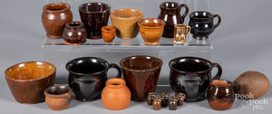 Collection of miniature redware