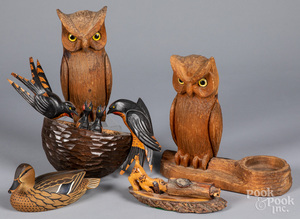 Five folk carvings