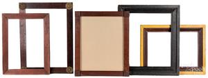 Five assorted antique frames