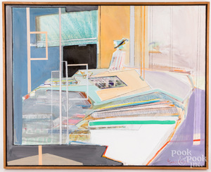 Lois Goodman oil on canvas abstract