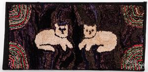 American hooked rug, ca. 1900
