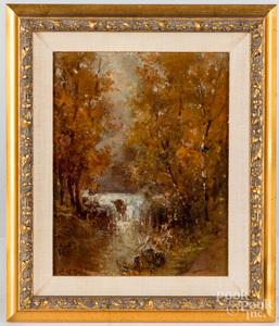 Arthur Vidal Diehl oil on board landscape