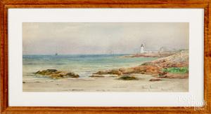 Watercolor coastal scene