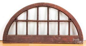 Antique demilune window