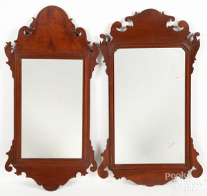 Two Chippendale mahogany mirrors, ca. 1800