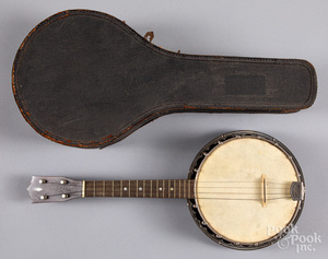 Grover banjo with case