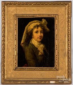 Three oil on canvas works, 19th c.