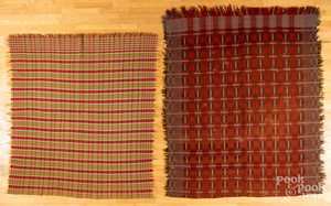 Four assorted coverlets, 19th c.