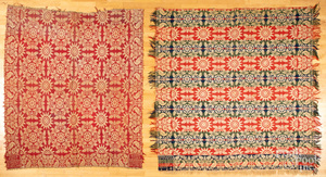 Two Maryland Jacquard coverlets, ca. 1840.