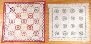 Three pieced quilts, ca. 1900.