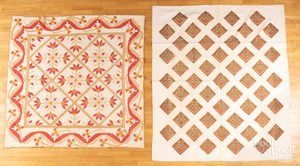 Four pieced quilts, late 19th c.