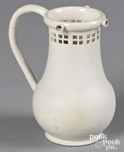 Staffordshire salt glaze stoneware puzzle jug