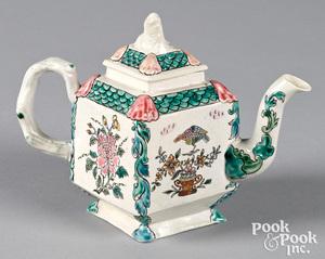 Staffordshire salt glaze stoneware teapot