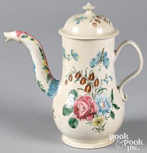 Staffordshire salt glaze stoneware coffee pot