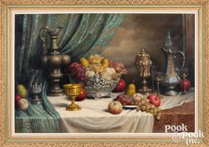John (Jeno) Friedlinger oil on canvas still life