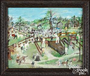 Mrs. Branchett Phillips, oil The Pony Auction