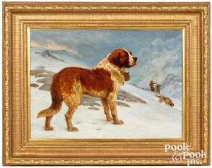 Basil Bradley oil on canvas Saint Bernard