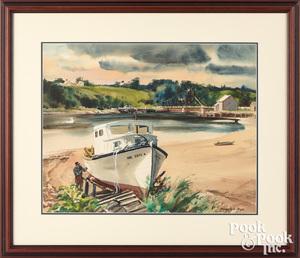 Ranulph Bye watercolor beach Thomaston ME