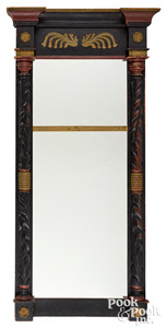 Federal carved and painted mirror, ca. 1835