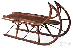 Antique sled, with iron strapping