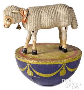 Rare Schoenhut half rolly dolly sheep