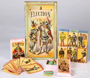 J.H. Singer Election Game, late 19th c.
