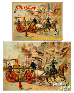 McLoughlin Bros. Fire Engine Picture Puzzle