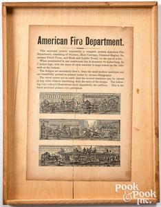 Milton Bradley American Fire Department puzzle