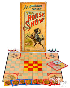 J.H. Singer The Horse Show game, early 20th c.