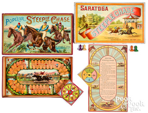 Two Steeple Chase Games, ca. 1900