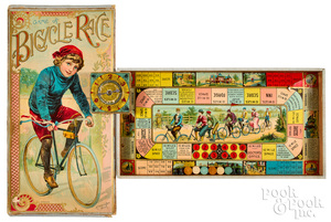 McLoughlin Bros. Game of Bicycle Race, ca. 1891