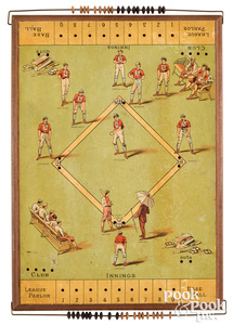 Bliss tabletop baseball game, ca. 1885