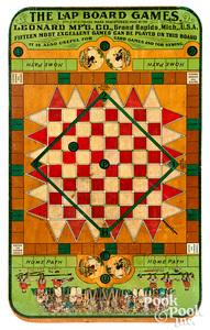 Leonard Mfg. Co. Lap Board Games