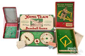 Three early baseball games