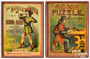 Early Wood Box McLoughlin Bros. Games