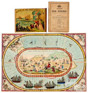 Race to the Gold Diggings Game, ca. 1850