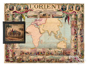 L'Orient or the Indian Traveler Game, ca. 1840