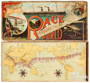McLoughlin Bros. Race Around the World
