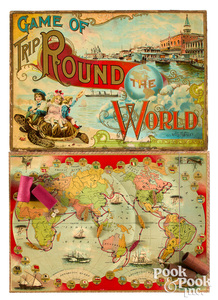 McLoughlin Bros. Game of Trip Around the World