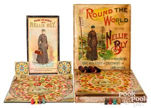 McLoughlin Bros. Nellie Bly Games, ca. 1890