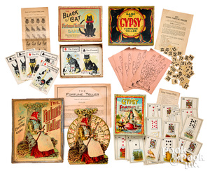 Four fortune telling games, ca. 1900