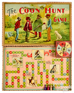 Parker Bros. Coon Hunt Game, early 20th c.