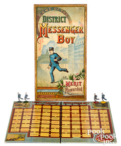 McLoughlin Bros. Game of The District Messenger