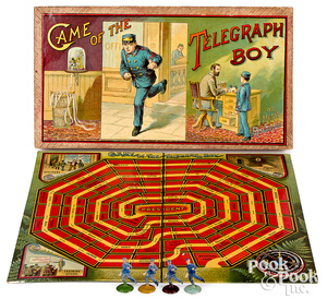 McLoughlin Bros. Game of the Telegraph Boy