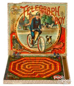 McLoughlin Bros. Game of Telegraph Boy