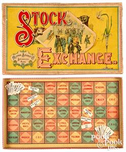 Milton Bradley Stock Exchange game, early 20th